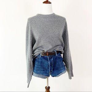J.CREW Lambswool Gray Oversized Sweater MD